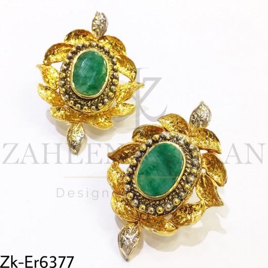Marble green earrings