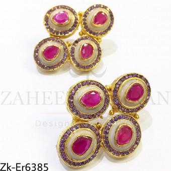 2 toned earrings