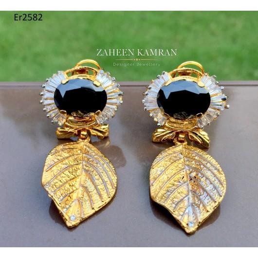 Agate Leaf Earrings!