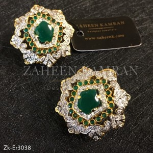 Emerald Floral studs!