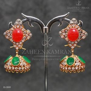 Baiza Emerald Jhumky