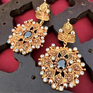 Agate Filigree work Earrings!