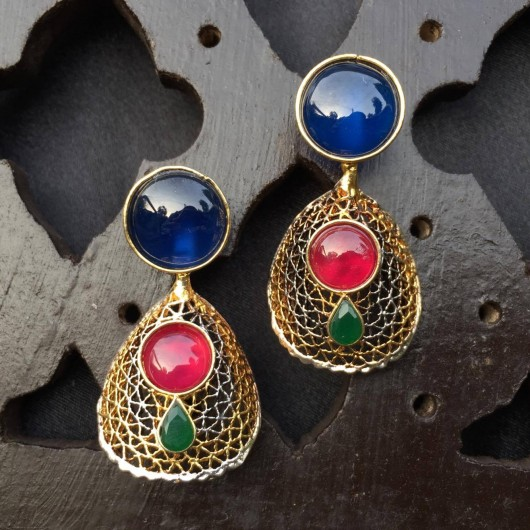 Cage Sapphire Earrings!