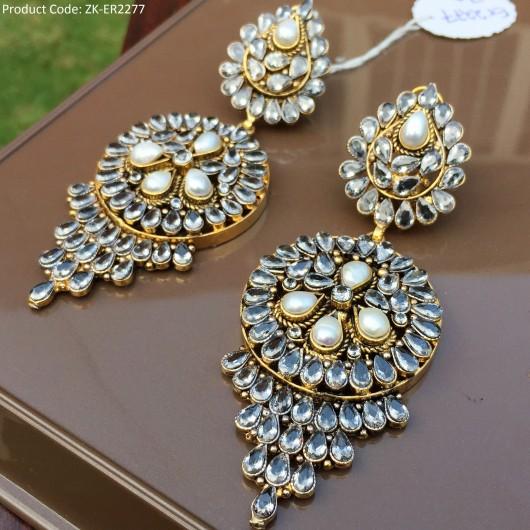 Black Zircons Earrings!