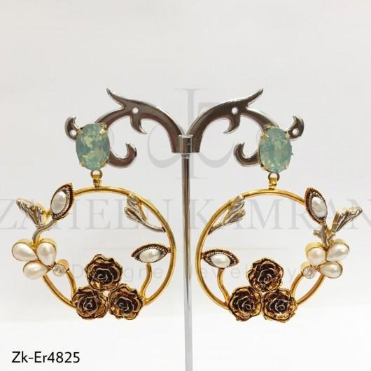 3 Rose Earrings