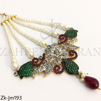 Emerald Ruby Jhumar