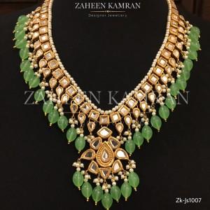 Kundan Squared Emerald Set!