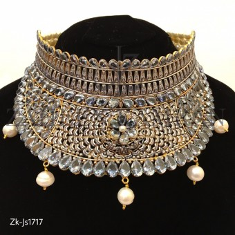 Pear Kundan Stylish Necklace Set