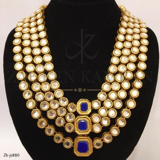 4 Layer Kundan Necklace