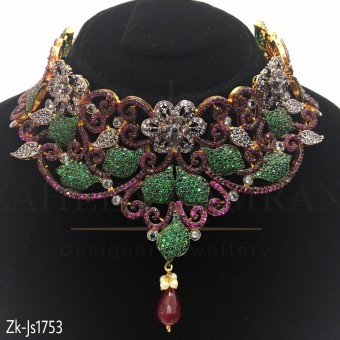 Ruby Emerald  Special Necklace Set