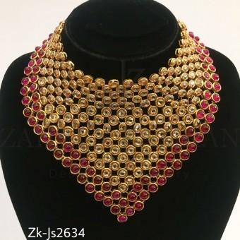 Kundan champagne ruby set