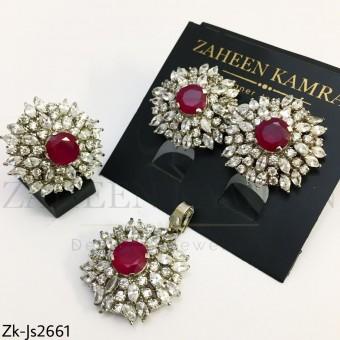 Ruby floral set