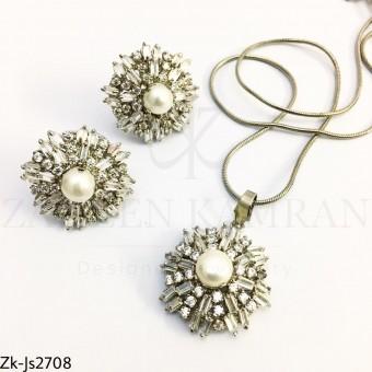Zirconian pearls set