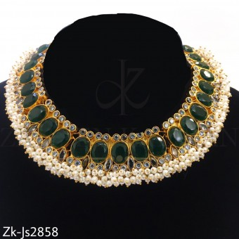 Kundan emerald set