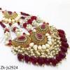 Ruby pearls set
