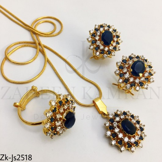 Sapphire Zirconian pendant set