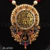 Beautiful Ruby Pearl Gold Plated Calligraphy Wearing Pendant