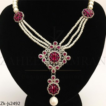 Ruby Pearly set
