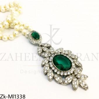 Silver emerald mala
