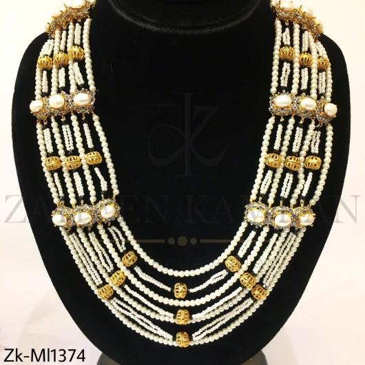 Pearls layered mala