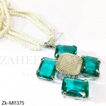 Aqua blue pendant