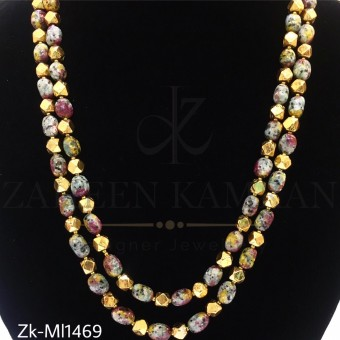 Antique marbled mala
