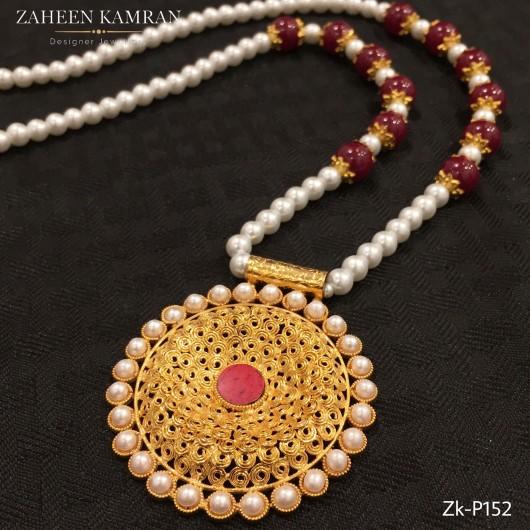Egyptian Ruby Pearl Pendant!