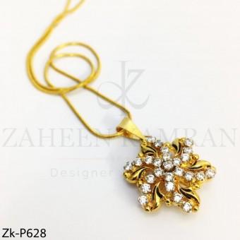 Zirconian gold pendant