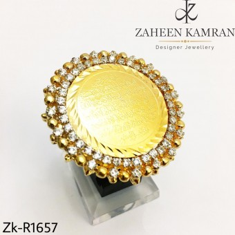 Gold  Calligraphy Ring