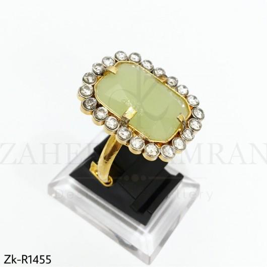 Khaki Stone Stunning Ring