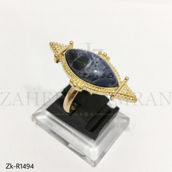 Black Marquise Ring