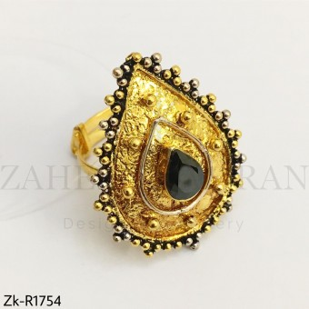 Agate textured ring