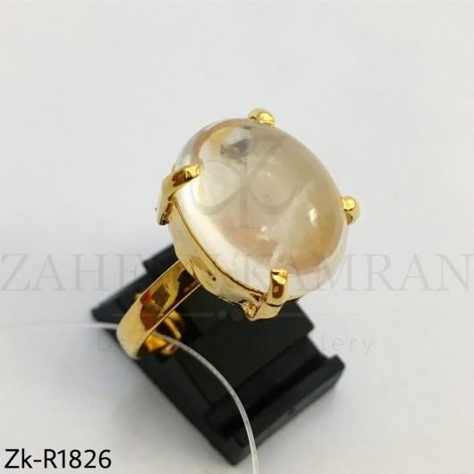 Crystal white ring