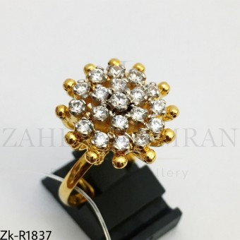 Floral Zirconian ring