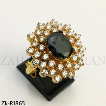 Agate Zirconian ring