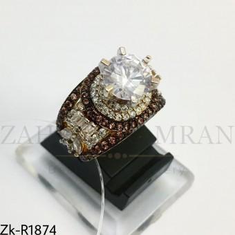 925 zircons ring