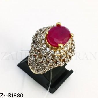 Zirconian ruby ring