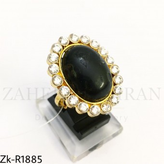 Agate oval ring