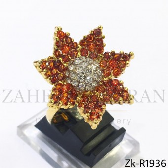 Floral orange ring