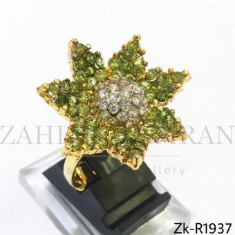 Olive floral ring
