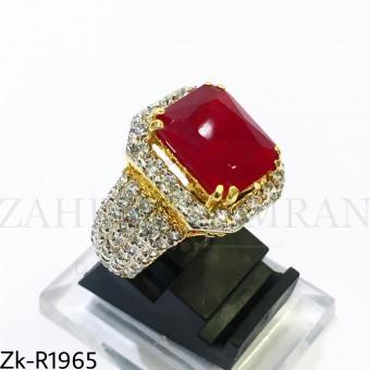 925 zirconian ruby ring