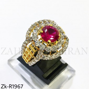 Ruby zirconian ring