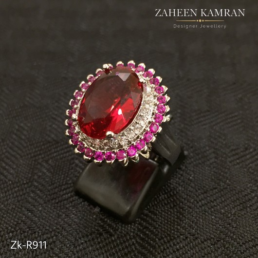 Silver Ruby Delicate Ring!