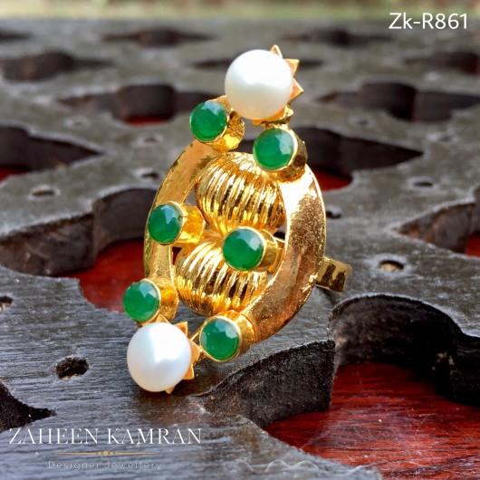 Emerald Pearl Ring!
