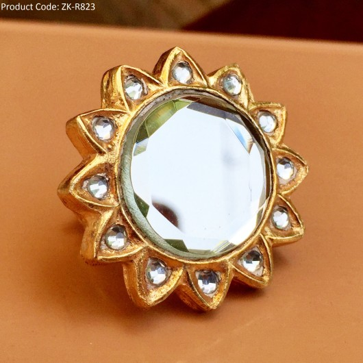 Star Shape Kundan Ring!