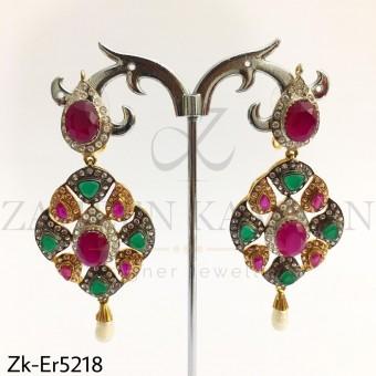 Ruby Emerald Danglers