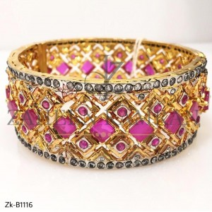Beautiful Pink Stone Bangles