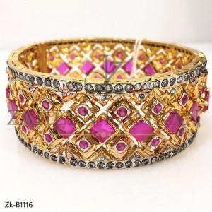 Beautiful Pink Stone Bangles