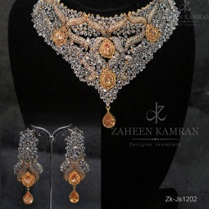 Topaz Zircons Necklace Set