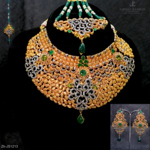 Emerald Comboo Necklace Set